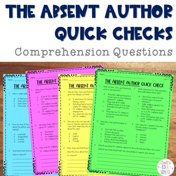 The Absent Author Novel Study Comprehension Questions