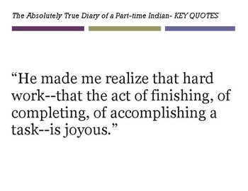 The Absolutely True Diary of a Part-time Indian- KEY QUOTES POSTERS
