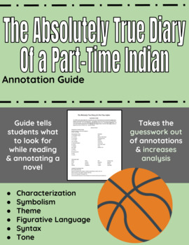 The Absolutely True Diary of a Part-Time Indian Annotation Guide