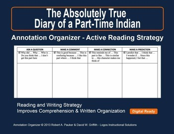 Absolutely True Diary of a Part-Time Indian: Annotation Organizer