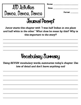 The Absolutely True Diary of a Part-Time Indian: Chapter 17 Worksheet