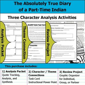 The Absolutely True Diary of a Part-Time Indian - Character Analysis Activities