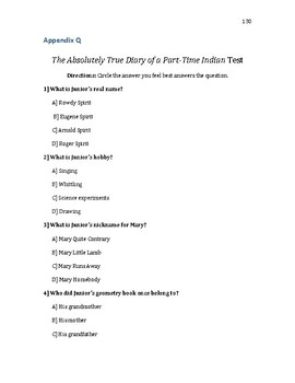 The Absolutely True Diary of a Part-Time Indian Final Test