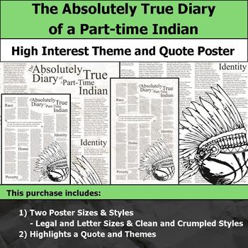 The Absolutely True Diary Of A PartTime Indian Theme Quote Poster Simple The Absolutely True Diary Of A Part Time Indian Quotes