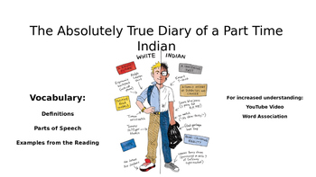 The Absolutely True Diary of a Part Time Indian Vocabulary with Extras