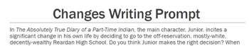 The Absolutely True-Diary of a Part-Time Indian Writing Prompts