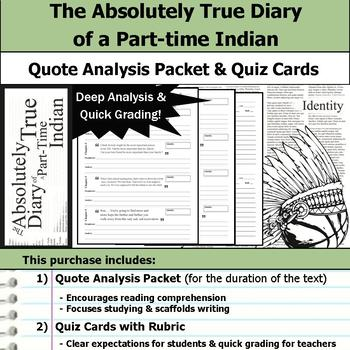 The Absolutely True Diary Of A Parttime Indian Quote Analysis Impressive The Absolutely True Diary Of A Part Time Indian Quotes