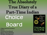 The Absolutely True Diary of a Part-Time Indian Choice Board Book Menu Project