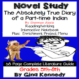 The Absolutely True Diary of a Part-Time Indian Novel Study + Project Menu