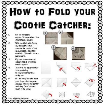 The Acadians Cootie Catcher