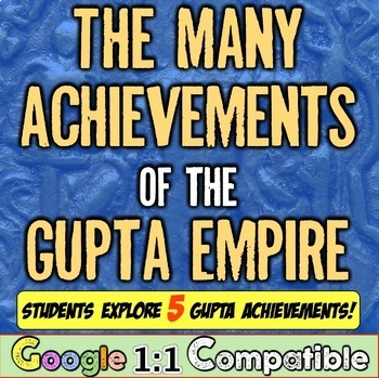 Ancient India & the Gupta Empire: Students analyze 5 major Gupta contributions!