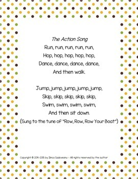 The Action Song with Extra Activities (lowercase letters)