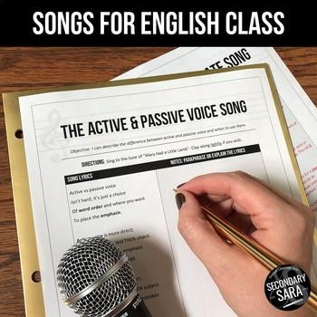 The Active & Passive Voice Song: Mini-Lesson for English Class (All Grades)