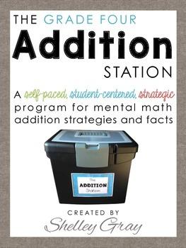 The Addition Station {Grade 4}