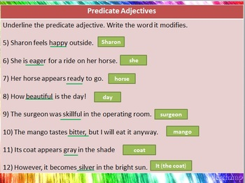 The Adjective Introduction PowerPoint and Handout Bundle