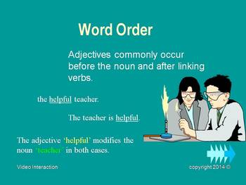 The Adjective - the grammar series