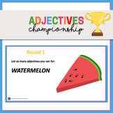 The Adjectives Championship Powerpoint Activity