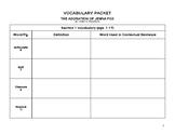 The Adoration of Jenna Fox Vocabulary Packet