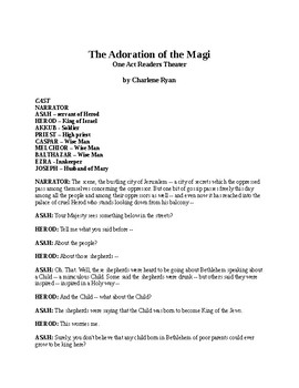 The Adoration of the Magi - One Act Readers Theater