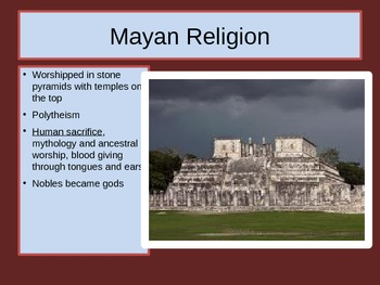 The Advanced Civilization of the Maya PowerPoint