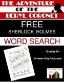 The Adventure of the Beryl Coronet: Sherlock Holmes Word S