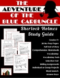 Sherlock Holmes Close Reading Study Guide: Adventure of the Blue Carbuncle