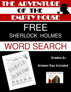 The Adventure of the Empty House: Sherlock Holmes Word Search FREE