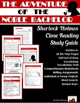 The Adventure of the Noble Bachelor: Sherlock Holmes Study Guide (29 Pgs., $8)