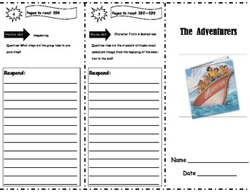 The Adventurers Storytown Comprehension Trifold
