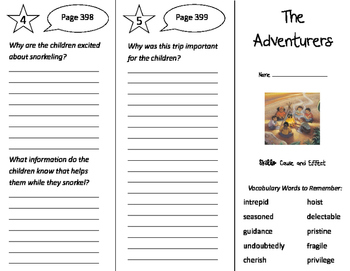 The Adventurers Trifold - Storytown 4th Grade Unit 3 Week 5