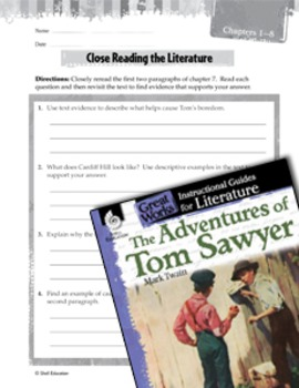 The Adventures Of Tom Sawyer Close Reading And Text-Dependent Questions