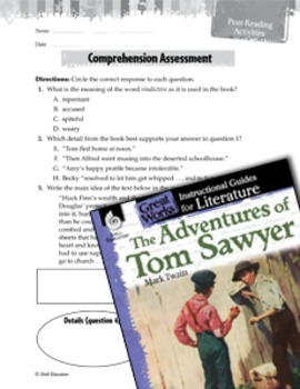 The Adventures Of Tom Sawyer Comprehension Assessment