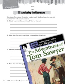 The Adventures Of Tom Sawyer Leveled Comprehension Questions