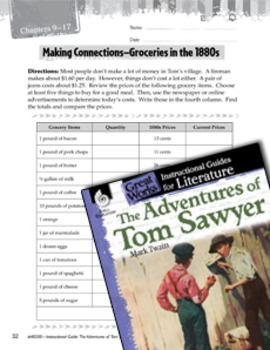 The Adventures Of Tom Sawyer Making Cross-Curricular Connections