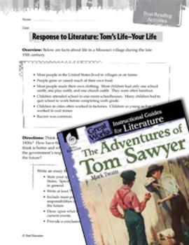 The Adventures Of Tom Sawyer Post-Reading Activities