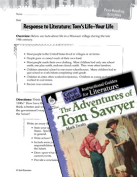 The Adventures Of Tom Sawyer Post-Reading Activities