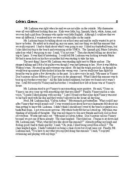 The Adventures of Calvin Arthur...Mild mannered 4th grader 1-5