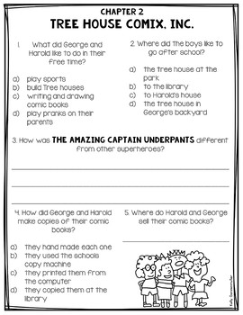 The Adventures of Captain Underpants: Book Companion and Craftivity