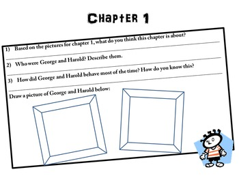 The Adventures of Captain Underpants Comprehension Packet/Questions
