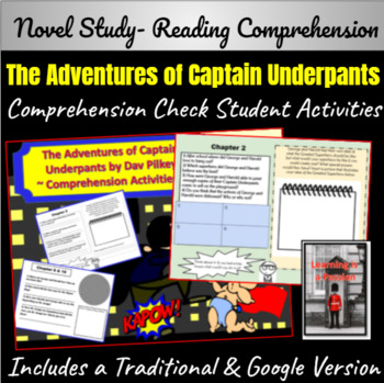 The Adventures of Captain Underpants Comprehension Packet/