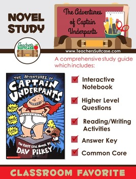 The Adventures of Captain Underpants {Interactive Notebook