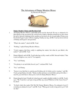 The Adventures of Danny Meadow Mouse - Literary Text Test Prep