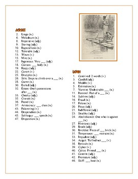 The Adv. of Huck Finn: 50-Word Prereading Crossword—Great Warm-Up for the Book!