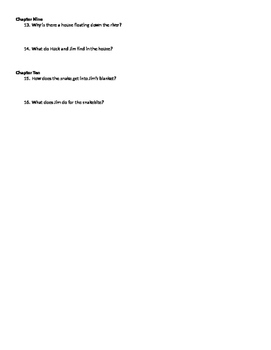 The Adventures of Huckleberry Finn Chapters 7-10 Review Questions