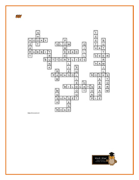 The Adventures of Huckleberry Finn: Simile Crossword—Unique!