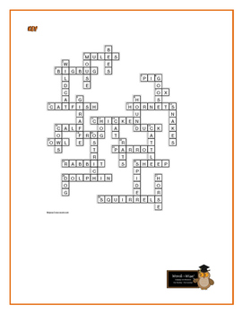 """The Adventures of Huckleberry Finn: """"Creturs"""" Crossword—A really fun puzzle!"""