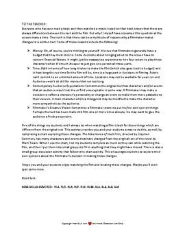 The Adventures of Huckleberry Finn Text vs. Movie