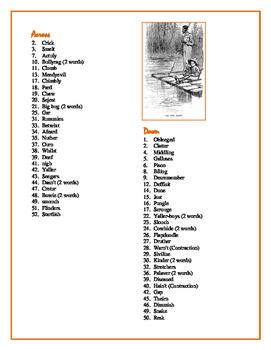 "The Adventures of Huckleberry Finn: ""In the Words of Huck"" Crossword—50+ clues!"