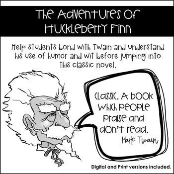 The Adventures of Huckleberry Finn: Introductory Activity