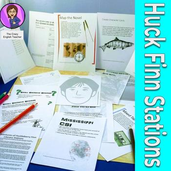 The Adventures of Huckleberry Finn Literacy Stations CCSS